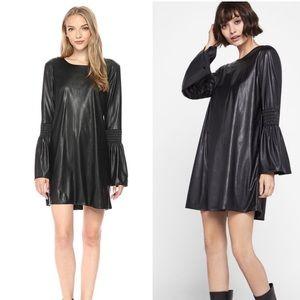Bcbg generation black bell sleeve smock dress